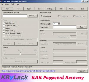Krylack rar password recovery full version free download