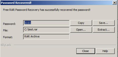rar password freeware
