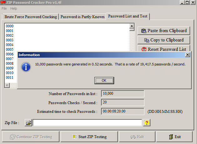 free zip file password recovery